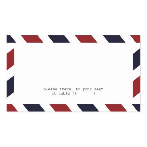 Airmail Escort Card Business Card Templates