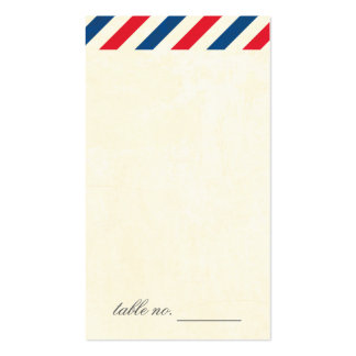 Airmail Escort Card Tag Double-Sided Standard Business Cards (Pack Of 100)
