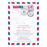 Airmail Heart USA and Macedonia Wedding Invitations