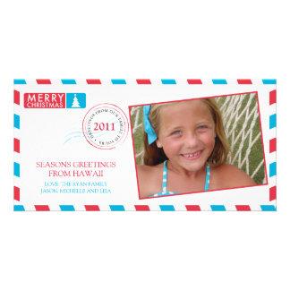 Airmail Holiday Greeting Card Photo Greeting Card