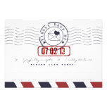 Airmail Love Letter Wedding Response Card