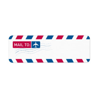 Airmail - MAIL TO: Label