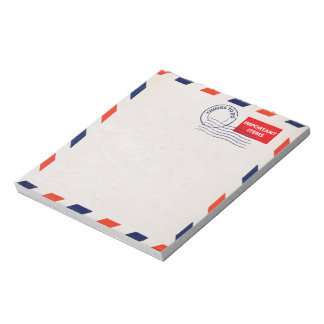 airmail note pad