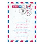 "Airmail Ohio Wedding 5"" X 7"" Invitation Card"