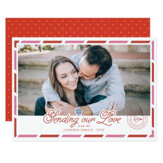 Airmail Photo Valentine Card