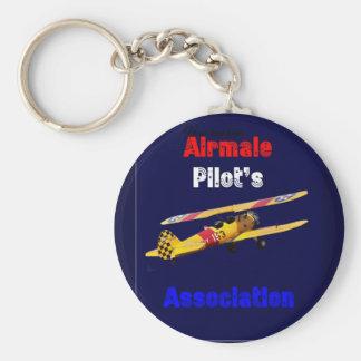 Airmail Pilots Assoc Basic Round Button Keychain