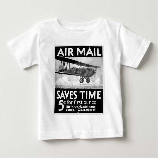 Airmail Poster Baby T-Shirt