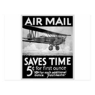 Airmail Poster Postcard