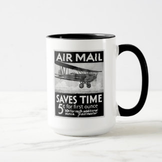 Airmail Saves Time Mugs
