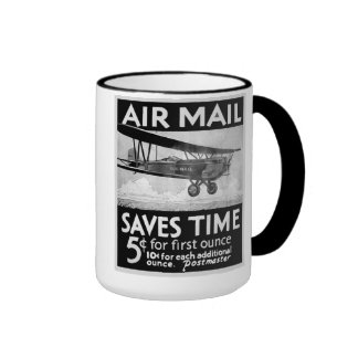 Airmail Saves Time Mugs