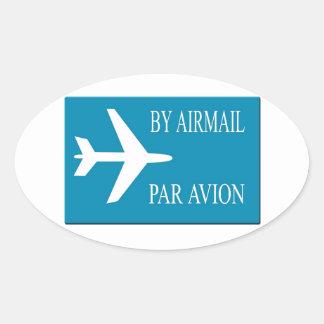 Airmail sticker effect