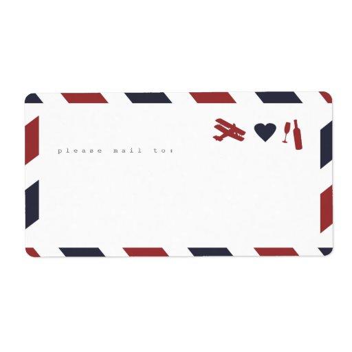 Airmail Sticker Labels - Travel, Love, Celebrate!