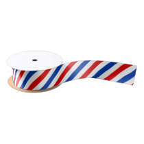 Airmail Stripe Pattern Satin Ribbon