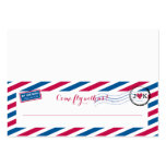 Airmail Tented Seating Card Large Business Cards (Pack Of 100)