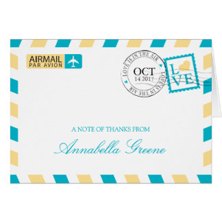 Airmail Thank You Card