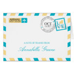 Airmail Thank You Greeting Cards
