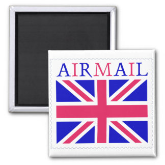 Airmail Union Jack Flag 2 Inch Square Magnet
