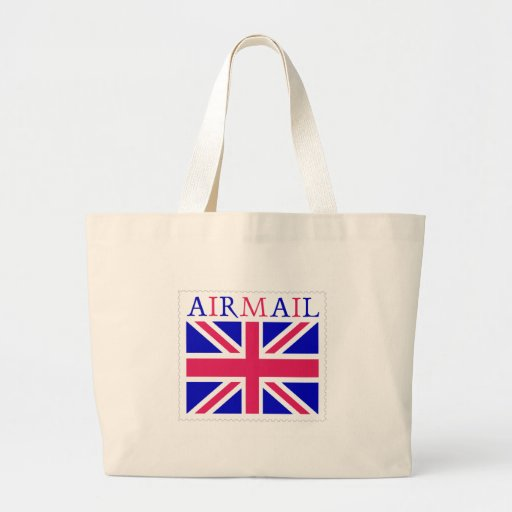 Airmail Union Jack Flag Tote Bag