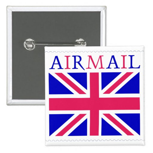 Airmail Union Jack Flag Button