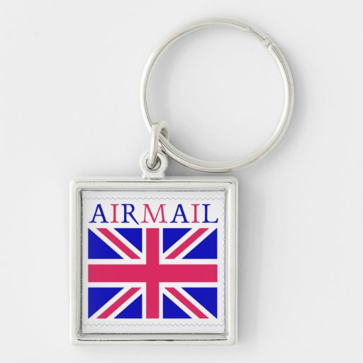 Airmail Union Jack Flag Keychains