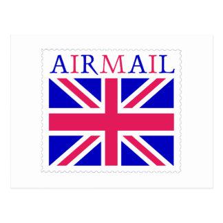 Airmail Union Jack Flag Postcard