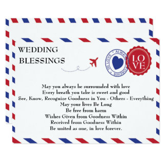 Airmail Wedding Blessings Card