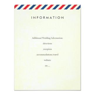 Airmail Wedding Insert 4.25x5.5 Paper Invitation Card