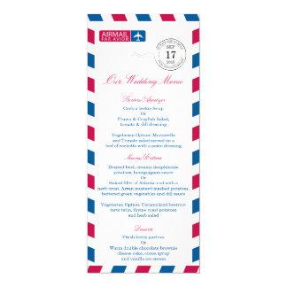 Airmail Wedding Reception Menu Card