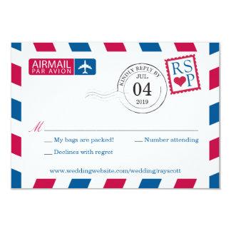 Airmail | Wedding RSVP 3.5x5 Paper Invitation Card