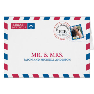 Airmail Wedding Thank You Cards