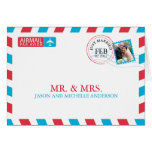 Airmail Wedding Thank You Greeting Card
