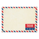 Airmail Wedding Thank You Note Greeting Card