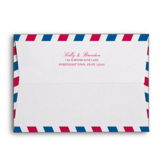 Airmail with Return Address | 5x7 Envelope