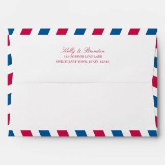 Airmail with Return Address | 5x7 Envelopes