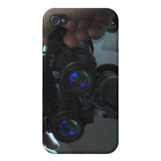 Airman adjusts the eyespan cover for iPhone 4