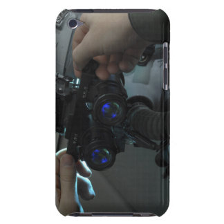 Airman adjusts the eyespan iPod touch case