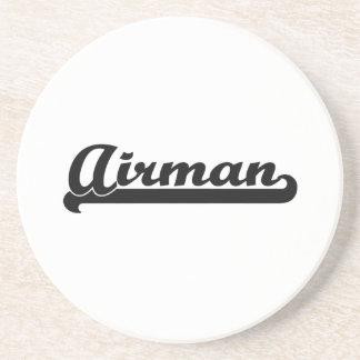Airman Artistic Job Design Beverage Coaster