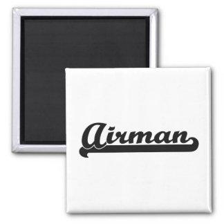 Airman Artistic Job Design 2 Inch Square Magnet