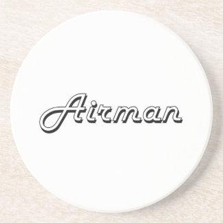 Airman Classic Job Design Beverage Coaster