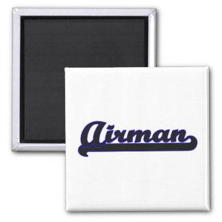 Airman Classic Job Design 2 Inch Square Magnet