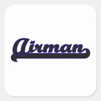 Airman Classic Job Design Square Sticker