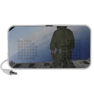 Airman observes the waters of the Gulf of Mexic Travel Speaker