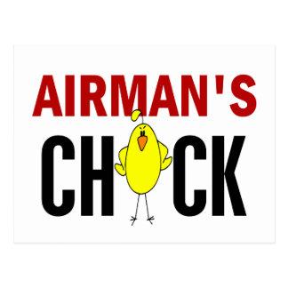 Airman's Chick Postcard