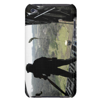 Airman watches a practice bundle fall barely there iPod cover