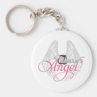 Airman's Angel Basic Round Button Keychain