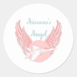 Airman's Angel Classic Round Sticker