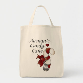 Airmans Candy Cane Tote Bag