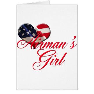 airmen's girl greeting card