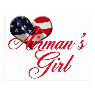 airmen's girl postcard