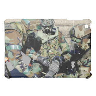 Airmen assist a Republic of Korea Army soldier iPad Mini Cases